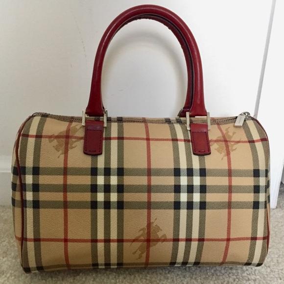 3e2f00b46024 Burberry Handbags - EUC Burberry haymarket check classic bowling tote